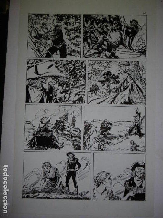 Cómics: BUFFALO BILL - NÚMERO 1 LA MUJER VIUDA - DE JULIO VIVAS - 20 PÁGINAS - 48 x 30cm - COMPLETO - Foto 14 - 193556012