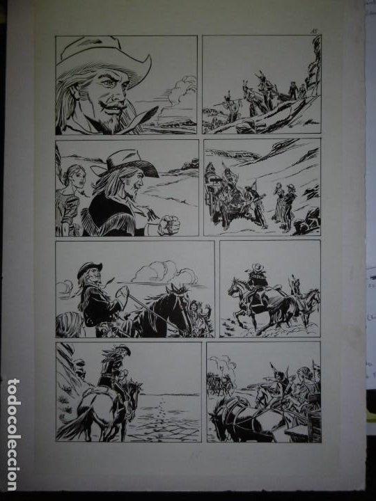 Cómics: BUFFALO BILL - NÚMERO 1 LA MUJER VIUDA - DE JULIO VIVAS - 20 PÁGINAS - 48 x 30cm - COMPLETO - Foto 15 - 193556012