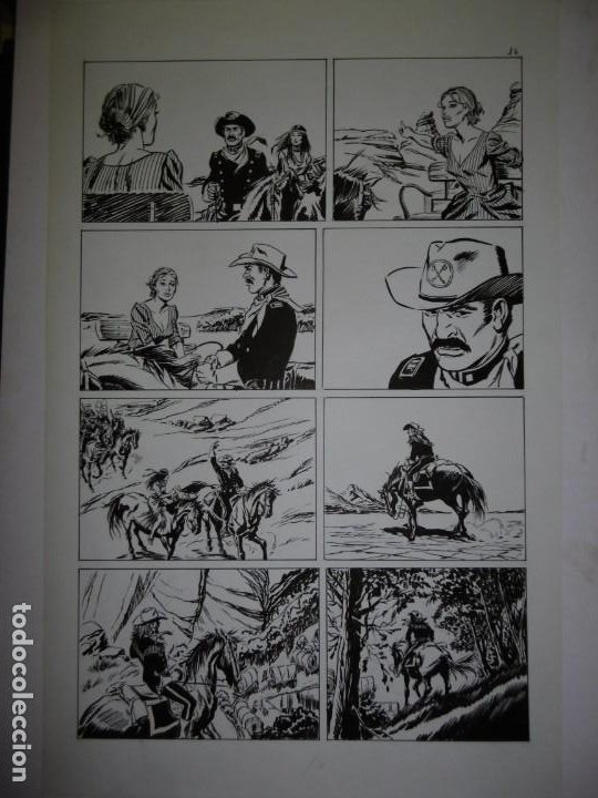 Cómics: BUFFALO BILL - NÚMERO 1 LA MUJER VIUDA - DE JULIO VIVAS - 20 PÁGINAS - 48 x 30cm - COMPLETO - Foto 16 - 193556012