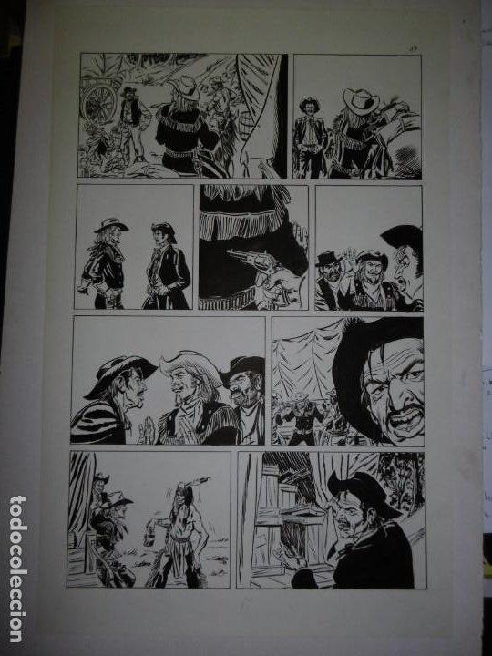 Cómics: BUFFALO BILL - NÚMERO 1 LA MUJER VIUDA - DE JULIO VIVAS - 20 PÁGINAS - 48 x 30cm - COMPLETO - Foto 17 - 193556012