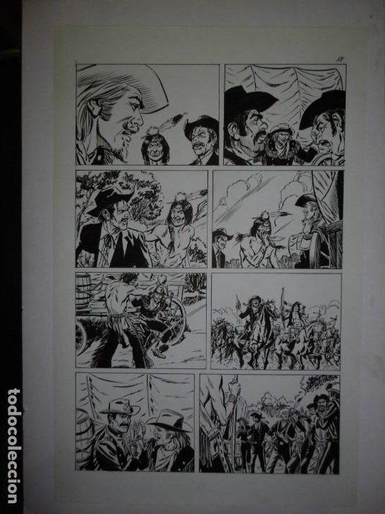 Cómics: BUFFALO BILL - NÚMERO 1 LA MUJER VIUDA - DE JULIO VIVAS - 20 PÁGINAS - 48 x 30cm - COMPLETO - Foto 18 - 193556012