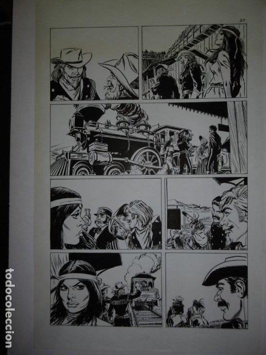 Cómics: BUFFALO BILL - NÚMERO 1 LA MUJER VIUDA - DE JULIO VIVAS - 20 PÁGINAS - 48 x 30cm - COMPLETO - Foto 20 - 193556012