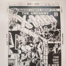 Cómics: X- MEN : COMIC MARVEL. CARTEL LITOGRAFICO DE LA PRIMERA PORTADA DE SU HISTORIA.. REPROGRAFIA. Lote 194159032