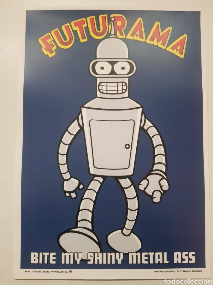 FUTURAMA ROBOT BENDER. LAMINA CARTEL LITOGRAFICO. REPROGRAFIA (Tebeos y Comics - Art Comic)