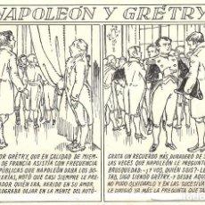 Cómics: ANTONI BATLLORI JOFRÉ - NAPOLEÓN Y GRÉTRY - DIBUJO ORIGINAL. Lote 194186868