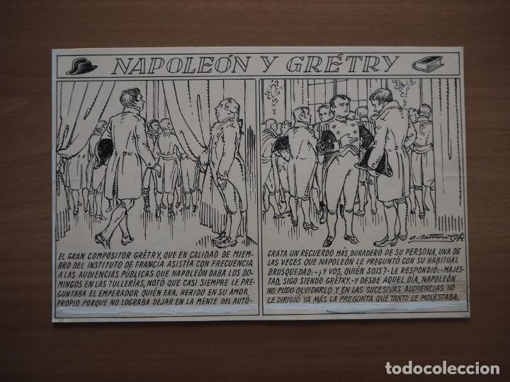 ANTONI BATLLORI JOFRÉ - NAPOLEÓN Y GRÉTRY - DIBUJO ORIGINAL (Tebeos y Comics - Art Comic)