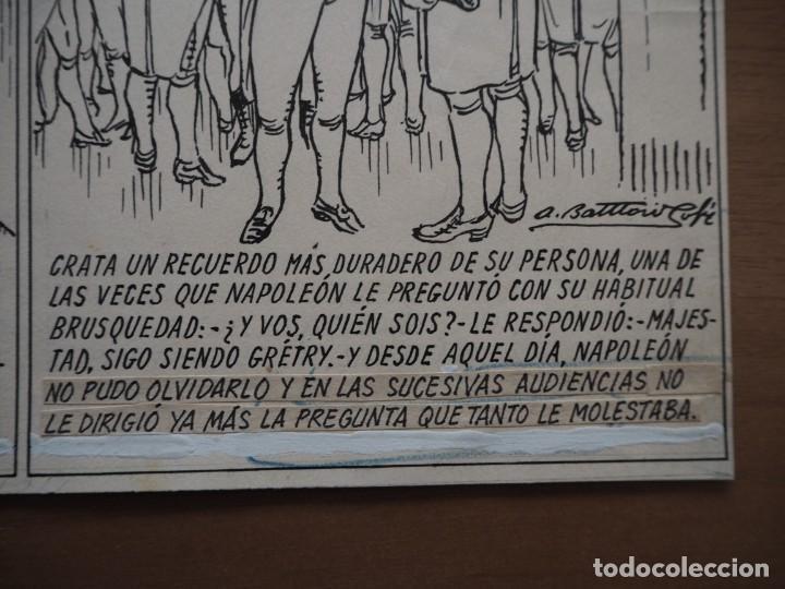 Cómics: ANTONI BATLLORI JOFRÉ - NAPOLEÓN Y GRÉTRY - DIBUJO ORIGINAL - Foto 6 - 194186868