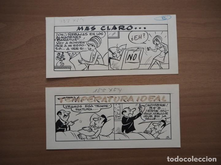 RAMON SABATÉS - MÁS CLARO... / TEMPERATURA IDEAL - DIBUJOS ORIGINALES (Tebeos y Comics - Art Comic)