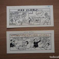 Cómics: RAMON SABATÉS - MÁS CLARO... / TEMPERATURA IDEAL - DIBUJOS ORIGINALES. Lote 194187710