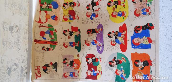 Cómics: Pagina historieta original Tobi publicada en SOS por Angel Nadal Quirch (dibujante de Bruguera) - Foto 6 - 194283612