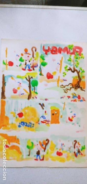 Cómics: Pagina historieta original contraportada J.Sanchis Pumby 1020 Valenciana con guía color - Foto 5 - 194284503