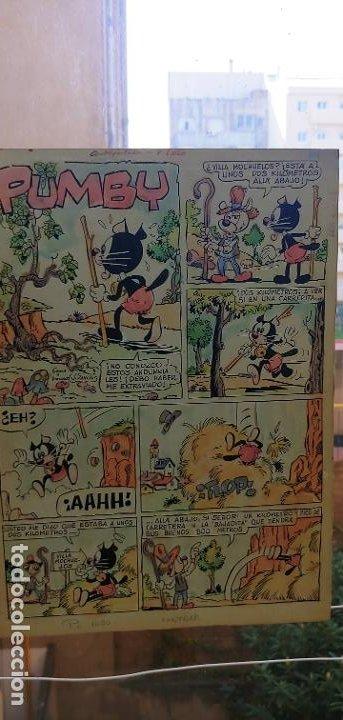 Cómics: Pagina historieta original contraportada J.Sanchis Pumby 1020 Valenciana con guía color - Foto 7 - 194284503