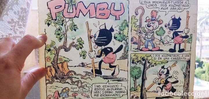 PAGINA HISTORIETA ORIGINAL CONTRAPORTADA J.SANCHIS PUMBY 1020 VALENCIANA CON GUÍA COLOR (Tebeos y Comics - Art Comic)