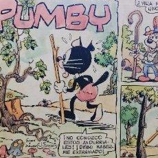 Cómics: PAGINA HISTORIETA ORIGINAL CONTRAPORTADA J.SANCHIS PUMBY 1020 VALENCIANA CON GUÍA COLOR. Lote 194284503