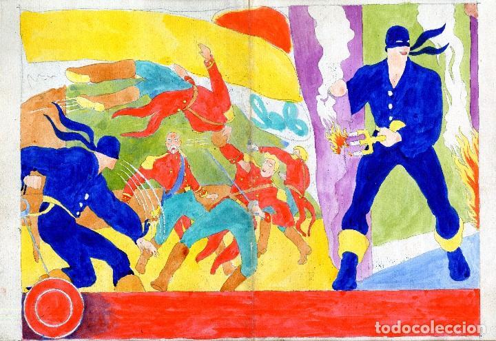 Cómics: ART COMIC AMBROS ORIGINALTAMAÑO 34 X 47 CENTIMETROS CON COLOR POR DETRAS - Foto 2 - 194530471