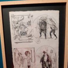 Cómics: RAMÓN CILLA, PÁGINA ORIGINAL DE HISTORIETA PIONERA DEL COMIC ESPAÑOL. DE MUSEO. Lote 194570622