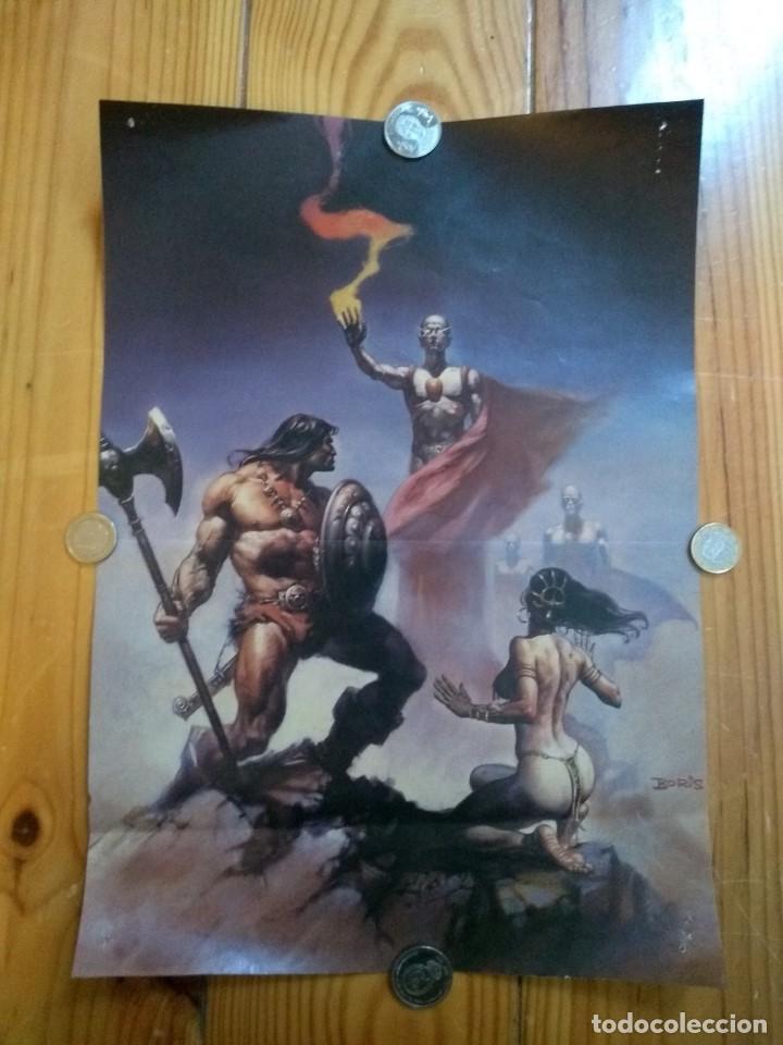 2 POSTERS CONAN - BORIS VALLEJO Y NOREM (Tebeos y Comics - Art Comic)