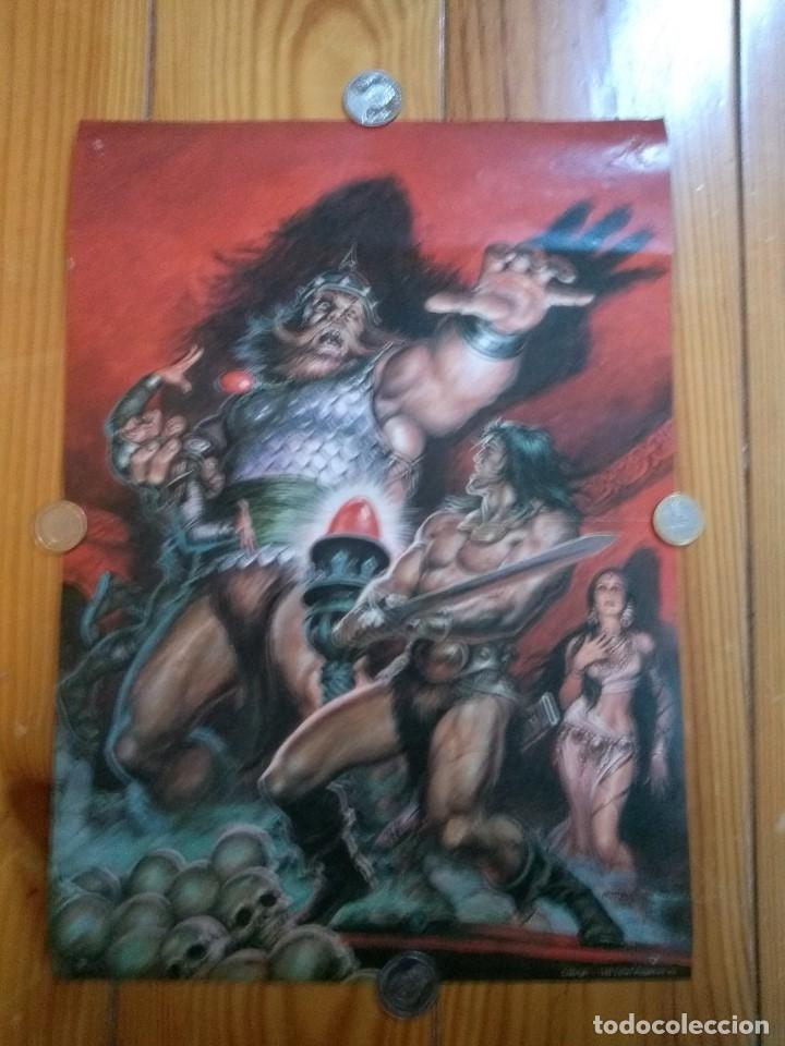 Cómics: 2 Posters Conan - Boris Vallejo y Norem - Foto 2 - 194708675