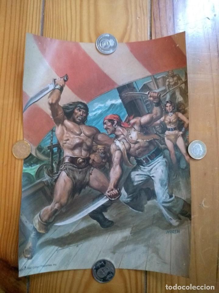 Cómics: 2 Posters Conan - Boris Vallejo y Norem - Foto 3 - 194708675