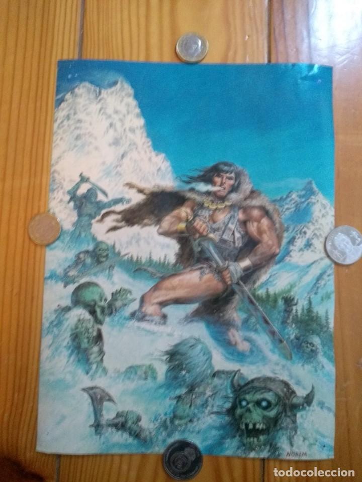 Cómics: 2 Posters Conan - Boris Vallejo y Norem - Foto 4 - 194708675