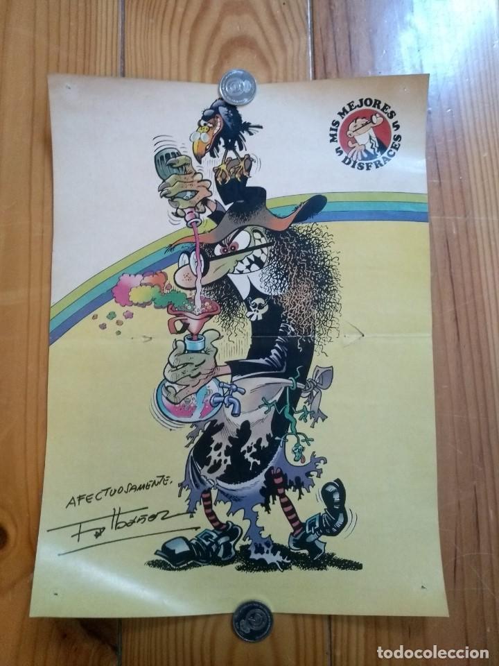 POSTER MORTADELO DISFRAZADO DE BRUJA (Tebeos y Comics - Art Comic)