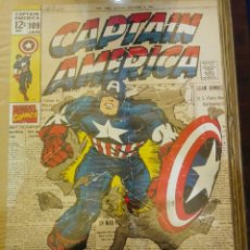 Cómics: PÓSTER CAPITÁN AMÉRICA COMICS MARVEL 60 X 90. Lote 194923551