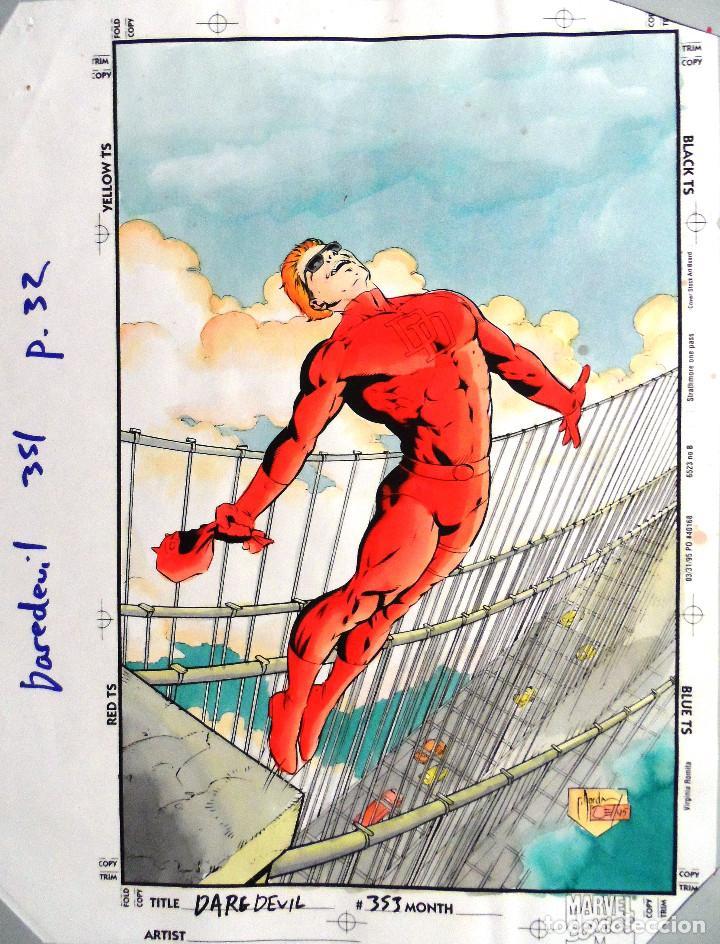 CHRISTIE SCHEELE. PRUEBA DE COLOR PARA DAREDEVIL. Nº 353, PÁGINA 32 (Tebeos y Comics - Art Comic)