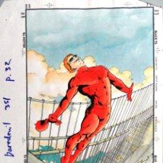 Cómics: CHRISTIE SCHEELE. PRUEBA DE COLOR PARA DAREDEVIL. Nº 353, PÁGINA 32. Lote 194931513