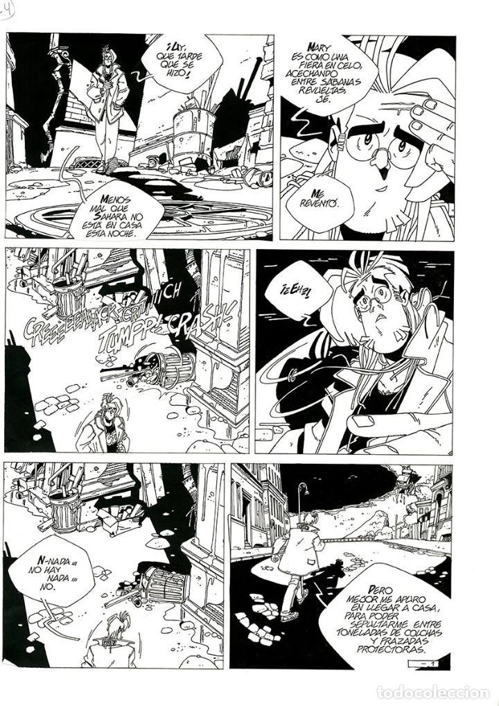 DIBUJO ORIGINAL DE CARLOS MEGLIA - IRISH COFFEE P.1, EURA EDITORIALE (Tebeos y Comics - Art Comic)