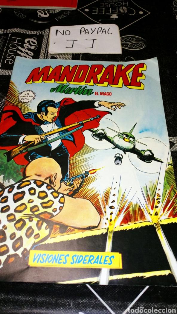 MANDRAKE MERLÍN EL MAGO 13 VISIONES SIDERALES ALGUNA ARRUGA LOMO VER FOTOS ESTADO (Tebeos y Comics - Art Comic)