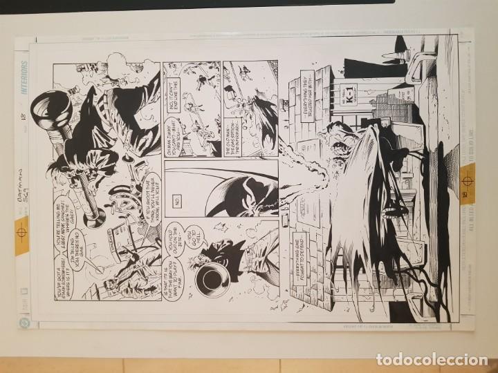 Cómics: BATMAN:TIERRA DE NADIE.#569. SERGIO CARIELLO. (El original va acompañado del comic americano) - Foto 4 - 195252745