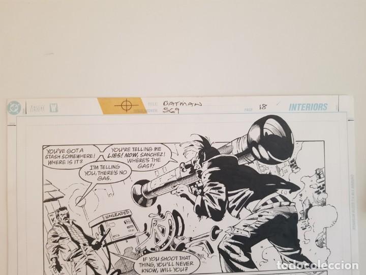 Cómics: BATMAN:TIERRA DE NADIE.#569. SERGIO CARIELLO. (El original va acompañado del comic americano) - Foto 5 - 195252745