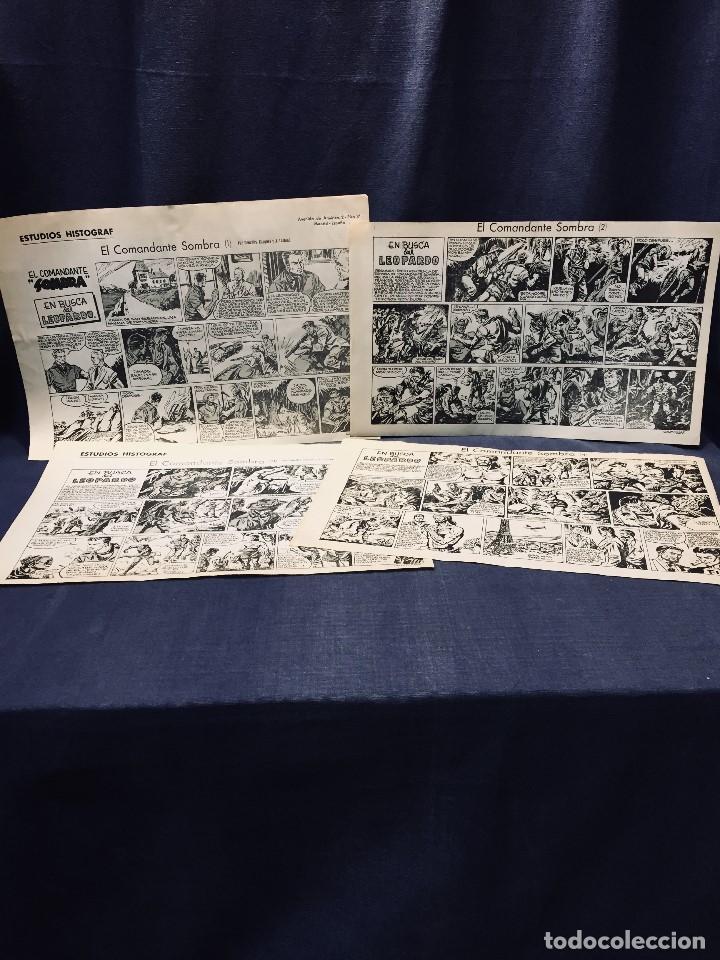 COMANDANTE SOMBRA CASQUET LAFFOND ESTUDIOS HISTOGRAF 4 HOJAS 31 X 10,5 CMS (Tebeos y Comics - Art Comic)