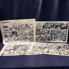 Cómics: COMANDANTE SOMBRA CASQUET LAFFOND ESTUDIOS HISTOGRAF 4 HOJAS 31 X 10,5 CMS. Lote 195322271
