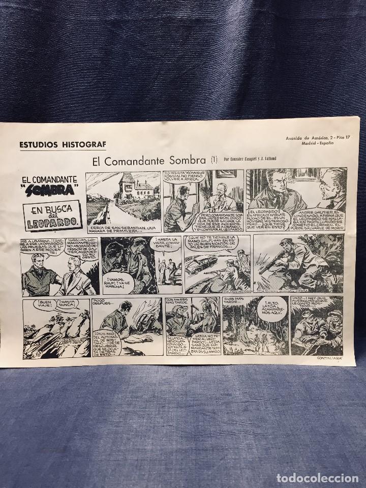 Cómics: COMANDANTE SOMBRA CASQUET LAFFOND ESTUDIOS HISTOGRAF 4 HOJAS 31 X 10,5 CMS - Foto 3 - 195322271