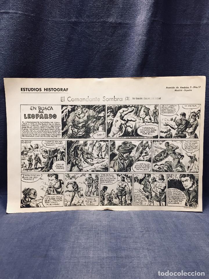 Cómics: COMANDANTE SOMBRA CASQUET LAFFOND ESTUDIOS HISTOGRAF 4 HOJAS 31 X 10,5 CMS - Foto 5 - 195322271