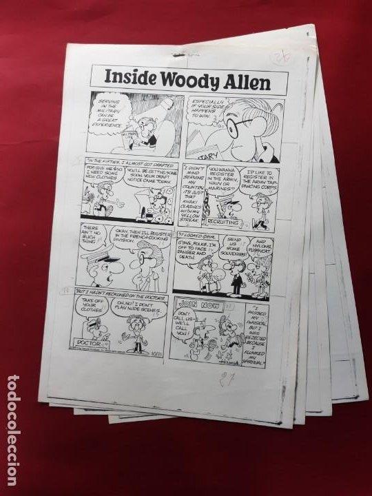 LAMINAS DIBUJO ORIGINAL INSIDE WOODY ALLEN POR STUART HAMPLE.VER FOTOS (Tebeos y Comics - Art Comic)