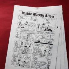 Cómics: LAMINAS DIBUJO ORIGINAL INSIDE WOODY ALLEN POR STUART HAMPLE.VER FOTOS. Lote 195369508