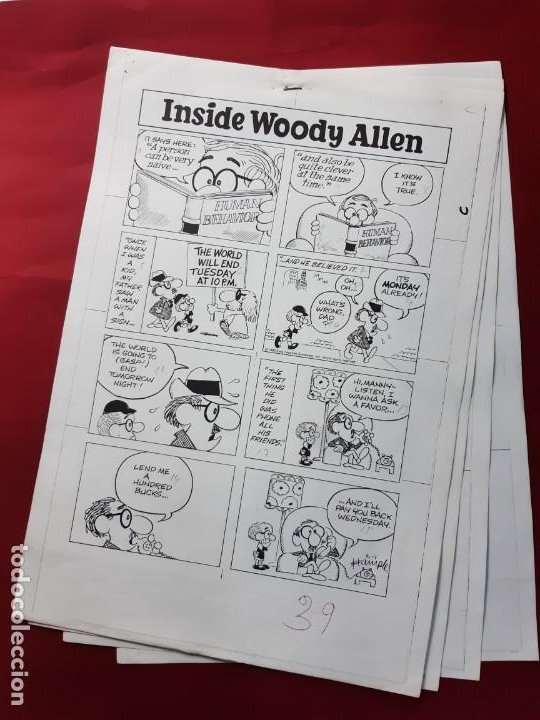 LAMINAS DIBUJO ORIGINAL INSIDE WOODY ALLEN POR STUART HAMPLE.VER FOTOS (Tebeos y Comics - Art Comic)