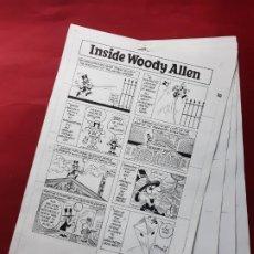 Cómics: LAMINAS DIBUJO ORIGINAL INSIDE WOODY ALLEN POR STUART HAMPLE.VER FOTOS. Lote 195369615