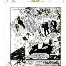 Cómics: DIBUJO ORIGINAL DE CARLOS MEGLIA - SUPERMAN BABY TALK P. 2, EDITORIAL DC. Lote 195459745