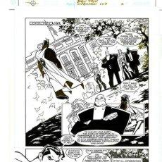 Cómics: DIBUJO ORIGINAL DE CARLOS MEGLIA - SUPERMAN BABY TALK P. 2, EDITORIAL DC. Lote 195459745