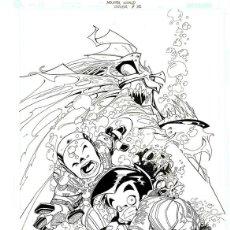 Cómics: DIBUJO ORIGINAL DE CARLOS MEGLIA - MONSTER WORLD P.3, EDITORIAL DC. Lote 195460147
