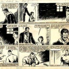 Cómics: ORIGINAL DE JUAN CENTELLA (DICK FULMINE) DE CARLO COSSIO. EN FRANCÉS. 29 X 42,5 CMS.. Lote 196548118