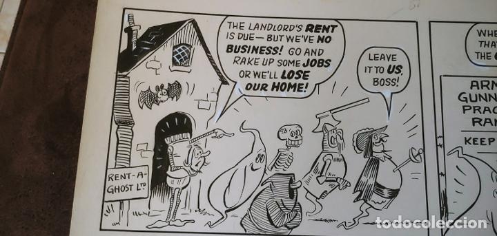 Cómics: Página historieta original Fantasmas de Alquiler Rent a Ghost Reg Parlett revistas Bruguera Buster - Foto 3 - 196591131