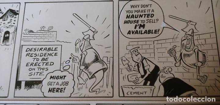 Cómics: Página historieta original Fantasmas de Alquiler Rent a Ghost Reg Parlett revistas Bruguera Buster - Foto 6 - 196591131