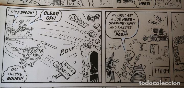 Cómics: Página historieta original Fantasmas de Alquiler Rent a Ghost Reg Parlett revistas Bruguera Buster - Foto 7 - 196591131