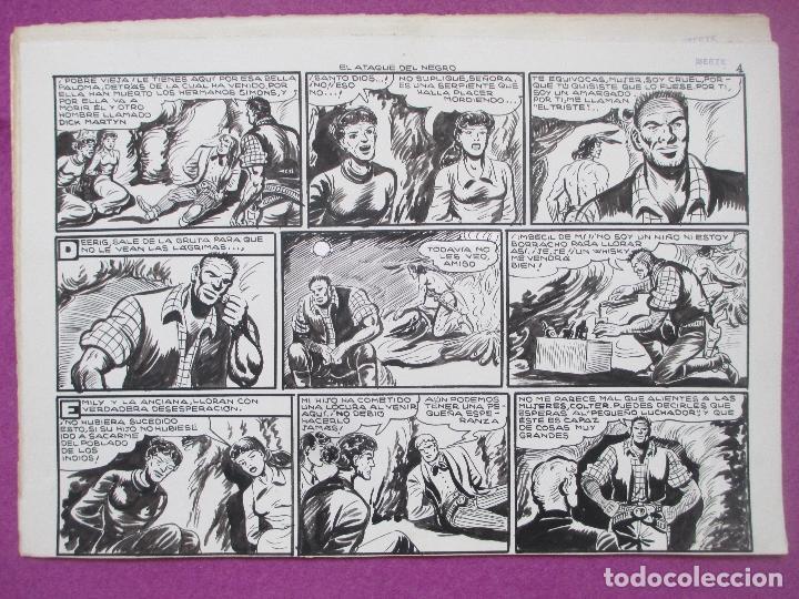 Cómics: DIBUJO ORIGINAL PLUMILLA, EL PEQUEÑO LUCHADOR, EL ATAQUE DEL NEGRO, Nº183, PORTADA + 10 HOJAS - Foto 5 - 196918497
