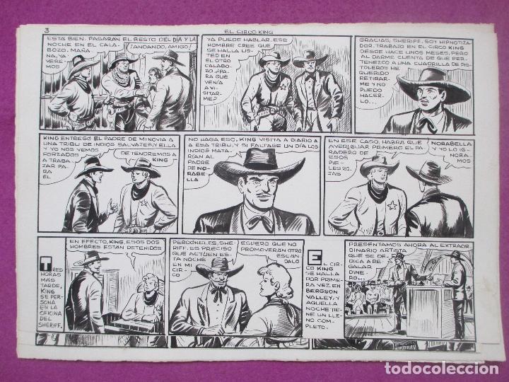Cómics: DIBUJO ORIGINAL PLUMILLA, EL PEQUEÑO LUCHADOR, EL CIRCO KING, Nº173, PORTADA + 10 HOJAS - Foto 4 - 196918782