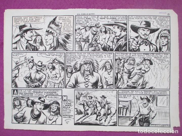 Cómics: DIBUJO ORIGINAL PLUMILLA, EL PEQUEÑO LUCHADOR, EL CIRCO KING, Nº173, PORTADA + 10 HOJAS - Foto 9 - 196918782